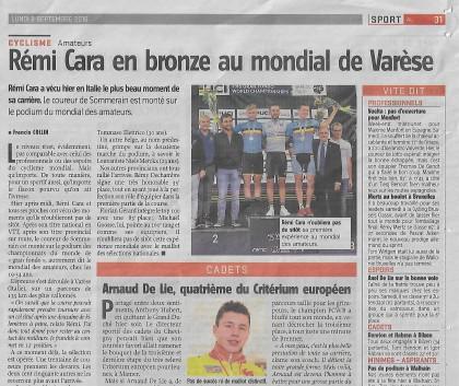 Rémi Cara en bronze au mondial à Varèse
